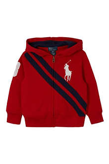 RALPH LAUREN Big Pony diagonal striped hoodie S-XL