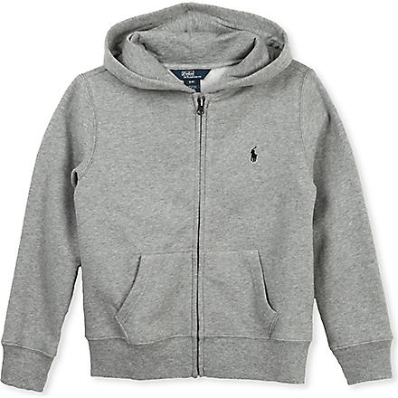 RALPH LAUREN Cotton fleece hoody 7-16 years (Grey