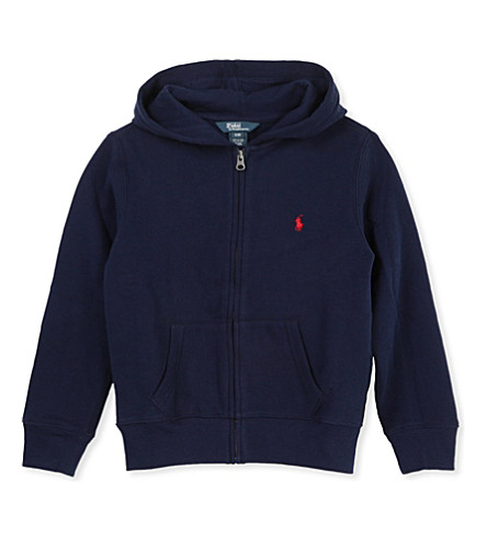 RALPH LAUREN Cotton fleece hoody 7-16 years (Navy