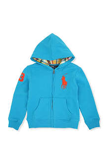 RALPH LAUREN Big Pony zip-up fleece hoody S-XL