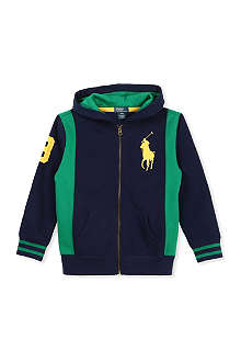 RALPH LAUREN Big polo player stretch-jersey hoodie