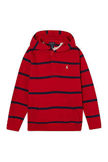 RALPH LAUREN Striped hooded top S-XL