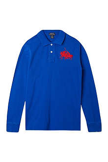 RALPH LAUREN Long-sleeved polo top S-XL