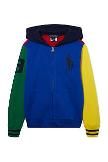 RALPH LAUREN Block colour hooded jumper S-XL