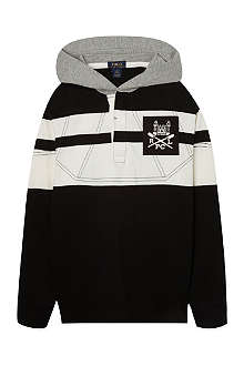 RALPH LAUREN Hooded rugby top S-XL