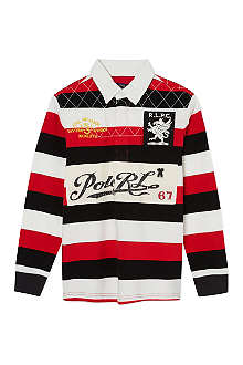 RALPH LAUREN Striped rugby top S-XL