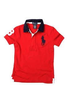 RALPH LAUREN Big Pony short-sleeved rugby shirt 8-16 years