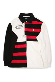 RALPH LAUREN Cotton striped rugby shirt 8-16 years