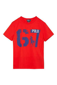 RALPH LAUREN Graphic number t-shirt S-XL