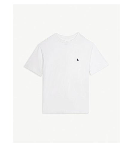 RALPH LAUREN Logo cotton T-shirt 6-14 years (White