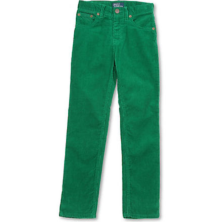 RALPH LAUREN Slim-fit five-pocket trousers 8-16 years (Green