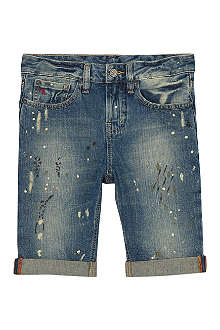 RALPH LAUREN Distressed denim shorts 7-16 years