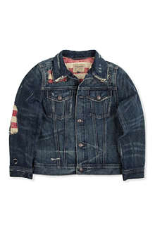 RALPH LAUREN Destroyed trucker jacket 8-16 years