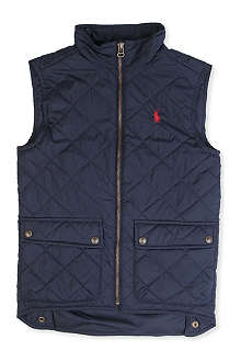RALPH LAUREN Richmond quilted gilet 8-16 years