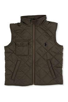 RALPH LAUREN Richmond Pony bomber vest 8-16 years