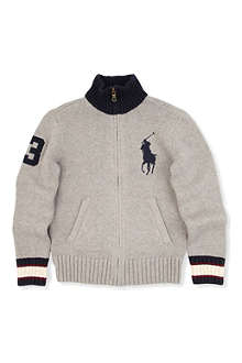 RALPH LAUREN Big pony zip through cardigan S-XL