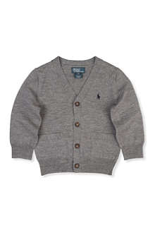 RALPH LAUREN Ralph Lauren elbow patch cardigan 6-14 years