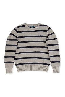 RALPH LAUREN Long-sleeved cotton-blend sweater S-XL