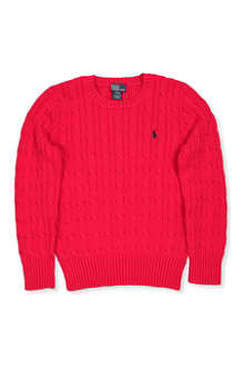 RALPH LAUREN Cable-knit cardigan 8-16 years