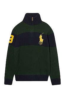 RALPH LAUREN Striped Big Pony jumper S-XL