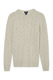 RALPH LAUREN Classic cable knit jumper S-XL