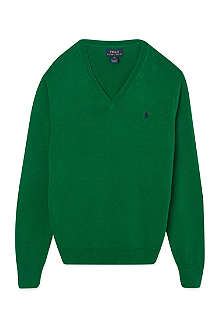 RALPH LAUREN Elbow patch jumper S-XL