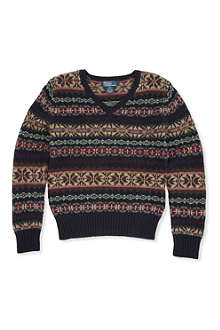 RALPH LAUREN Fair Isle knitted jumper 7-16 years