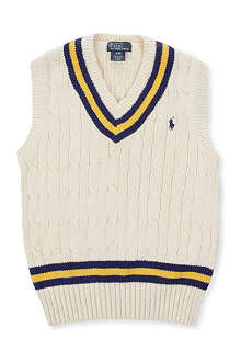 RALPH LAUREN Cricket cable-knit vest 8-16 years
