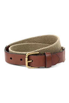 RALPH LAUREN Elastic leather belt 8-16 years