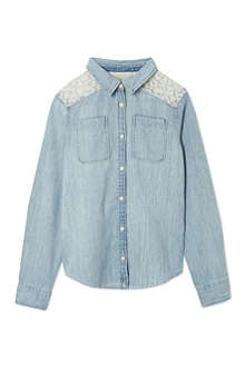RALPH LAUREN Lace denim shirt 8-16 years