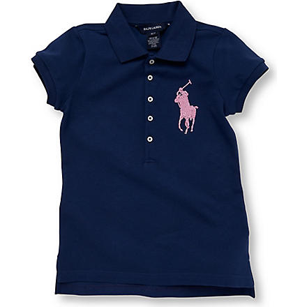 RALPH LAUREN Beaded polo shirt 7-16 years (Blue