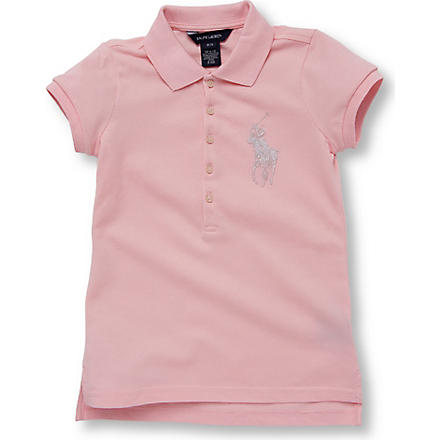 RALPH LAUREN Beaded polo shirt 7-16 years (Pink