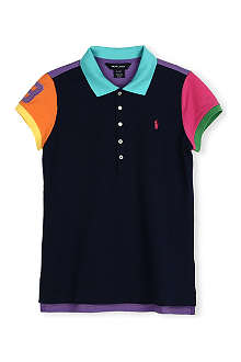 RALPH LAUREN Colour-block polo shirt 8-16 years
