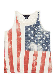 RALPH LAUREN Flag graphic tank top S-XL