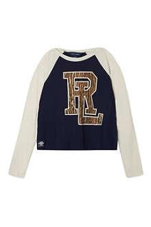 RALPH LAUREN Raglan graphic t-shirt S-XL