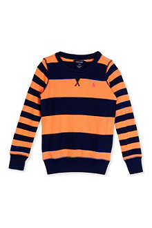 RALPH LAUREN Striped sweatshirt S-XL