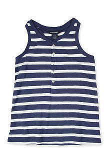 RALPH LAUREN Striped sequin-detail vest 7-16 years
