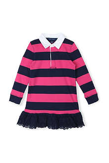 RALPH LAUREN Striped cotton dress 7-16 years