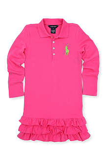 RALPH LAUREN Big Pony long-sleeved polo dress 7-16 years