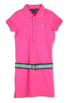 RALPH LAUREN Cotton belted polo dress 8-16