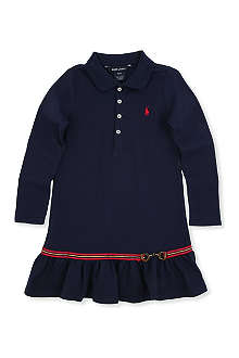 RALPH LAUREN Long-sleeved polo dress 7-16 years