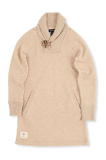 RALPH LAUREN Shawl collar fleece dress S-XL