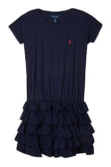 RALPH LAUREN Ruffle t-shirt dress S- XL