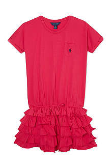 RALPH LAUREN Ruffle t-shirt dress S - XL