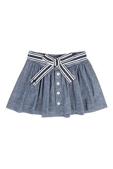 RALPH LAUREN Chambray button-front skirt 8-16 years