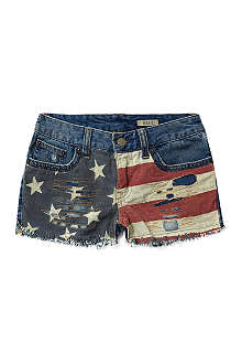 RALPH LAUREN Cut-off five pocket shorts 7-16 years
