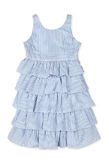 RALPH LAUREN Tiered seersucker dress 8-16 years