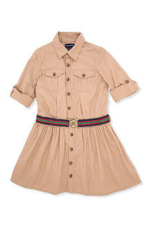 RALPH LAUREN Twill cargo shirtdress 8-16 years