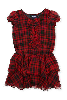 RALPH LAUREN Ruffled silk-chiffon dress 8-14 years