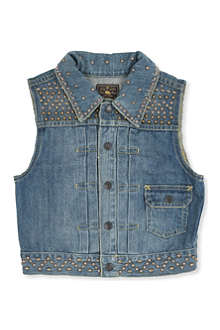 RALPH LAUREN Studded denim vest 8-16 years